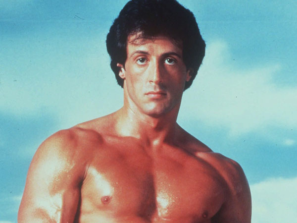 "Sylvester Stallone poses in character as ""Rocky,"" the fictional boxer he portrayed in a series of films starting in 1976. (AP Photo/files)"