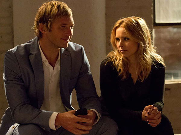 "On the case: Ryan Hansen with Kristen Bell as the girl sleuth in ""Veronica Mars."""