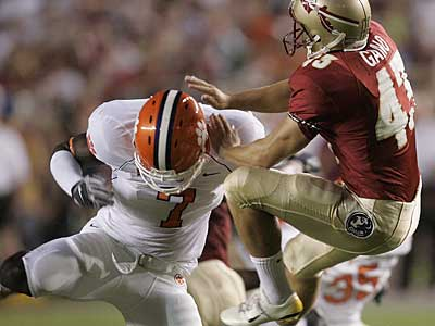 Clemson´s Ricky Sapp (7) says he has a workout with the Eagles. (AP photo / Phil Coale)