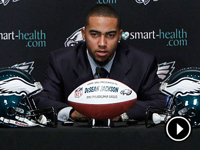 DeSean Jackson said his relationship with Andy Reid factored into his contract decision. (Alejandro A. Alvarez/Staff Photographer)