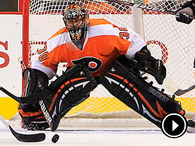 Ilya Bryzgalov´s status for the near-future is uncertain after suffering a foot injury. (Ron Cortes/Staff Photographer)