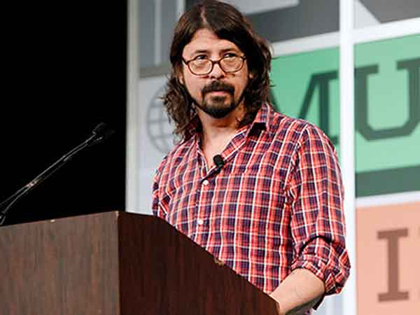 AUSTIN, TX - MARCH 14:  Dave Grohl gives the keynote address during the South By Southwest Music Festival at the Austin Convention Center on March 14, 2013 in Austin, Texas.  (Photo by Gary Miller/FilmMagic)