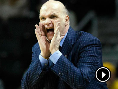 Phil Martelli shouts to his players during the second half of an NCAA college basketball game agianst VCU at the Atlantic 10 Conference tournament, Friday, March 15, 2013, in New York. VCU won 82-79. (John Minchillo/AP)