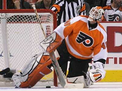 The Flyers recalled Phantoms´ Jeremy Duchesne to replace the injured Michael Leighton. (Yong Kim / Staff Photographer)