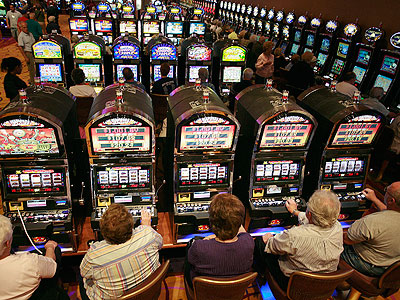 Slot machines  at the Mount Airy Casino Resort in Paradise Township. (Steve Klaver / Associated Press)