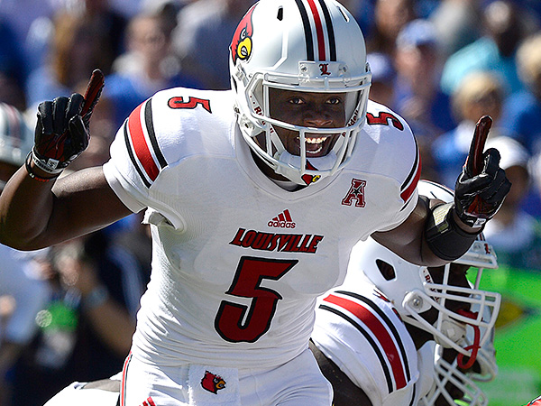 Louisville quarterback Teddy Bridgewater. (AP Photo/Timothy D. Easley)