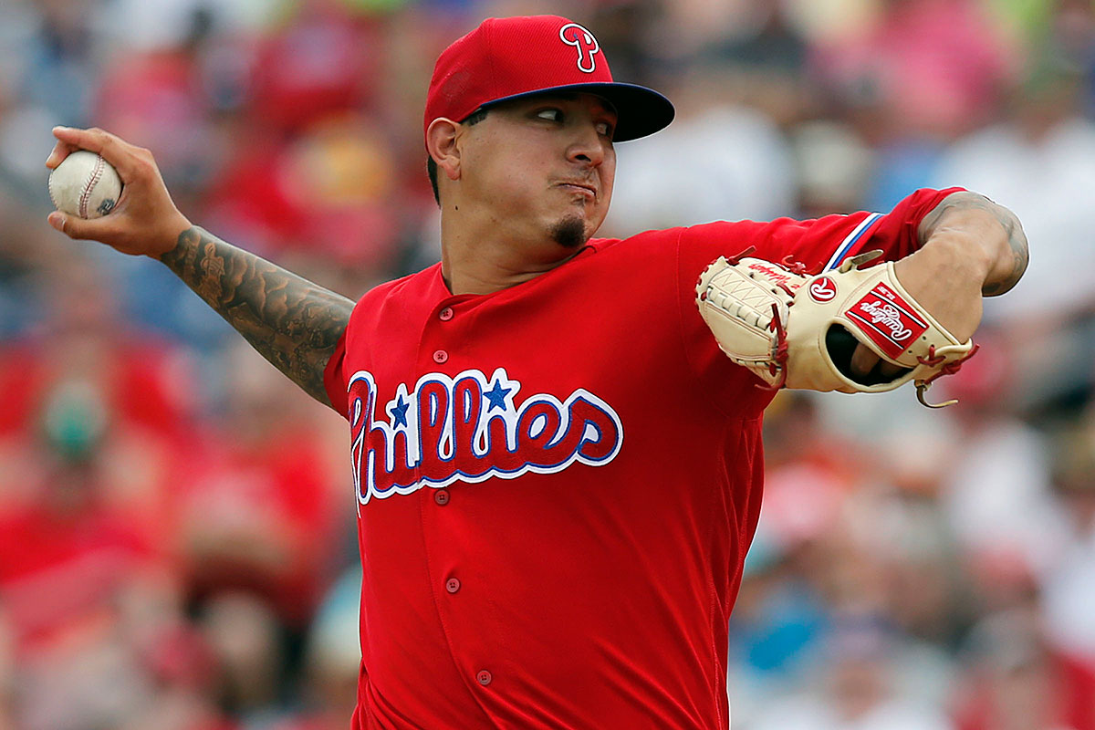 Phillies pitcher Vince Velasquez.