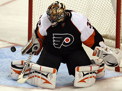 The Flyers will rely on goalie Brian Boucher the rest of the season. (Yong Kim/Staff file photo)