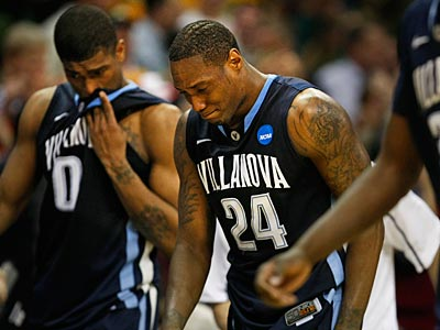 An emotional Corey Stokes walks off the court after Villanova lost to George Mason. (Ron Cortes/Staff Photographer)