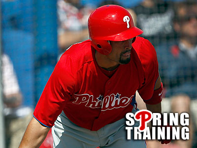 Shane Victorino scored the Phillies´ opening run in the first inning. (Yong Kim/Staff file photo)