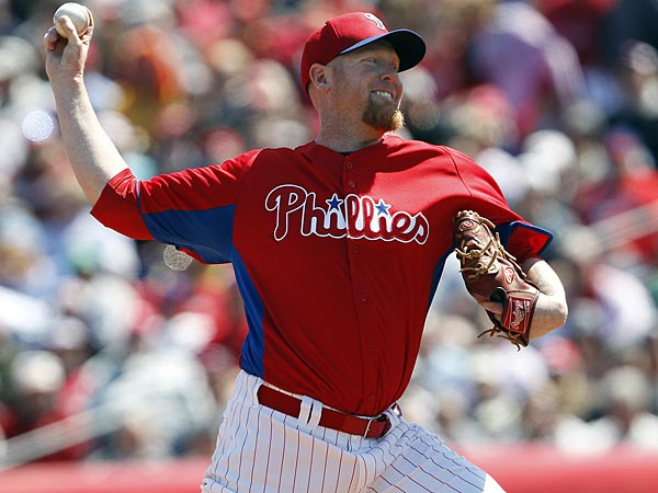Phillies pitcher Aaron Cook. (David Maialetti/Staff Photographer)
