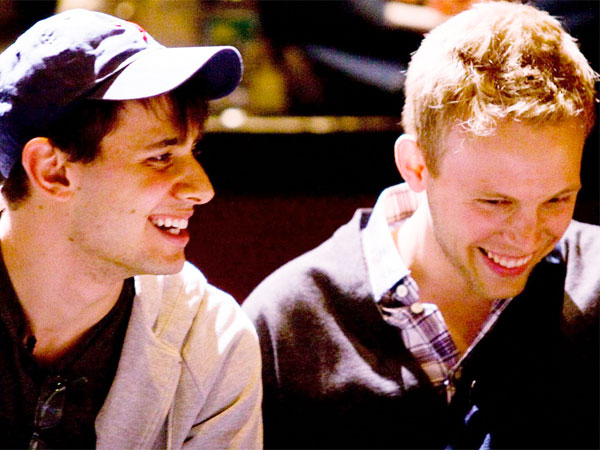 Philly-born Benj Pasek (left) and music-writing partner Justin Paul have gone from college dreams to sought-after status.