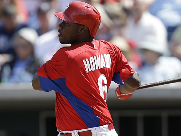 Phillies first baseman Ryan Howard. (Michael Bryant/Staff Photographt)