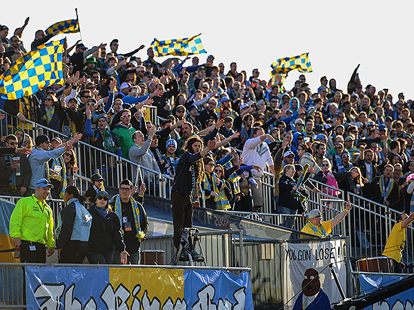 The Sons of Ben will get another U.S. Open Cup home game on July 8 if the Union beat the Cosmos. (John Geliebter/USA Today Sports)