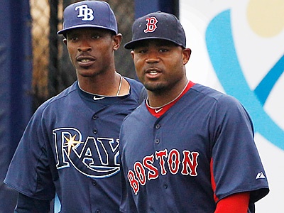 B.J. Upton, left, and Carl Crawford rank among the league´s best outfielders. (AP Photo)
