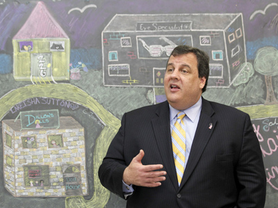 Gov. Christie has made charter schools and vouchers the cornerstones of his education reform plan. (AP PHOTO / Julio Cortez)