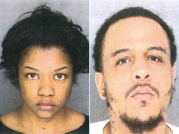 Brittany Morris, left, and her boyfriend, Lakief Bivins, right, are accused of raping two teen girls in Upper Darby in February.