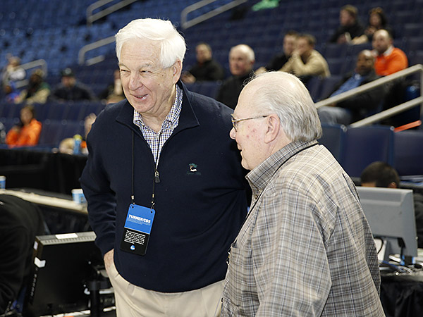 Verne Lundquist and Bill Raftery. (Kevin Hoffman/USA Today Sports)