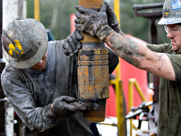 Shale drilling in Bradford County. Pennsylvanians support drilling for natural gas by a nearly 2-to-1 margin, but a majority is opposed when it occurs under state parks and forests, according to a Quinnipiac University poll released Friday. (Daniel Acker/Bloomberg, file)