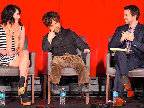 """""""Game of Thrones"""" stars Lena Headey and Peter Dinklage with """"It´s Always Sunny in Philadelphia´s"""" Rob McElhenney (right)"""