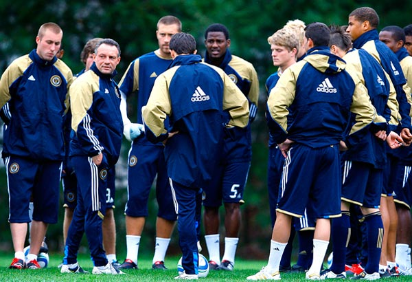 The Philadelphia Union practice on Monday, March 22. (David Maialetti / Staff Photographer)