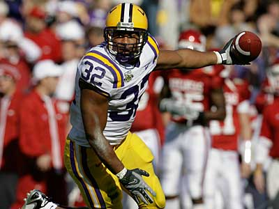 The Eagles will work out LSU RB Charles Scott, according to a report. (AP photo / Alex Brandon)