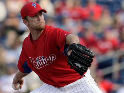After recovery from a torn rotator cuff, pitcher Brad Lidge could begin a rehab assignment next week. (Yong Kim / Staff Photographer)