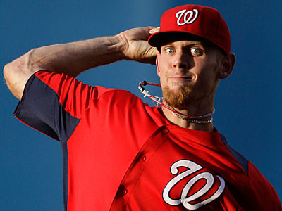 Stephen Strasburg had his best outing of spring training for the Nationals  on Tuesday. (Patrick Semansky/AP)