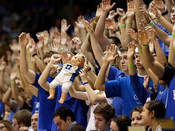 Duke fans have arrived at the WFC. (AP Photo/Gerry Broome)
