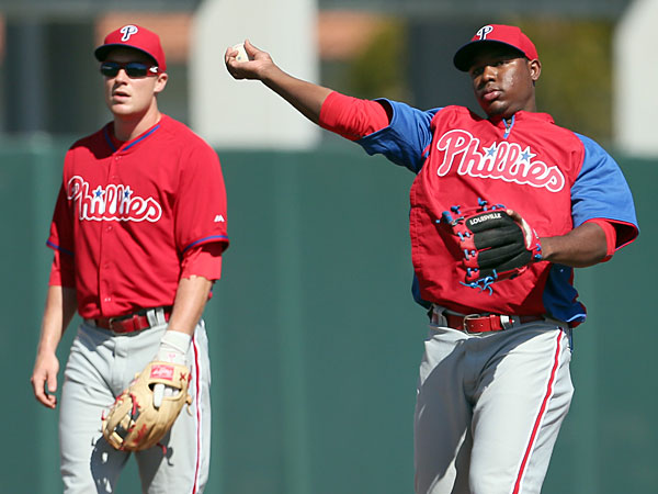 Cody Asche (left) and Maikel Franco (right). (Yong Kim/Staff file photo)