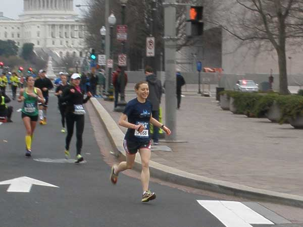Philly.com writer Emily Babay runs in the Rock ´n´ Roll USA marathon in Washington, D.C.