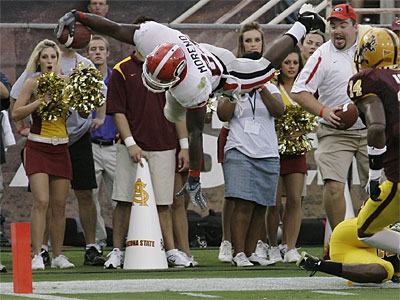 Georgia running back Knowshon Moreno is expected to be drafted in the first round of April´s draft. (AP Photo/Paul Connors)
