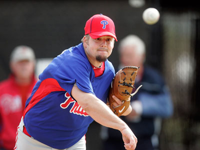 The Phillies´ team doctor will examine Joe Blanton´s injured abdominal muscle on Thursday. (David Swanson / Staff Photographer)