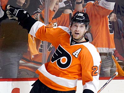 Claude Giroux is third in the NHL with a career-high 86 points this season. (Yong Kim/Staff file photo)