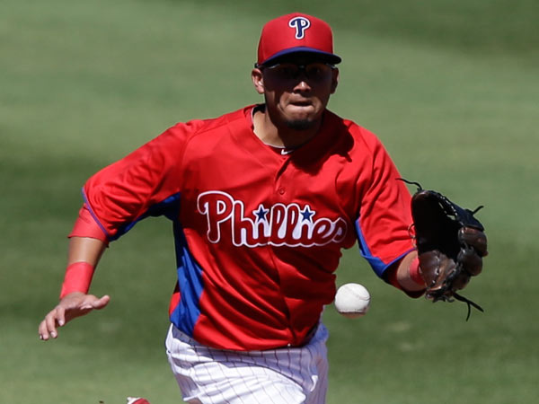 Freddy Galvis in action during a spring training exhibition baseball game against the Minnesota Twins, Thursday, March 7, 2013, in Clearwater, Fla. (Matt Slocum/AP file)