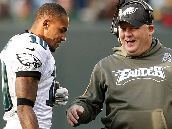 Eagles´ DeSean Jackson and head coach Chip Kelly. (Ron Cortes/Staff Photographer)