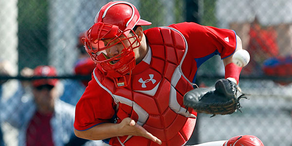 Catcher Sebastian Valle could be the eventual heir to Carlos Ruiz´s throne behind the plate. (Yong Kim/Staff Photographer)