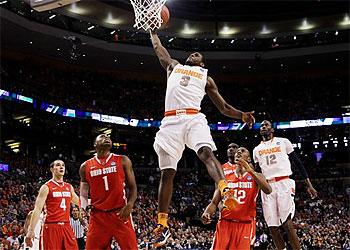 Syracuse guard Dion Waiters, a Philadelphia native, is headed to the NBA. (Elise Amendola/AP)