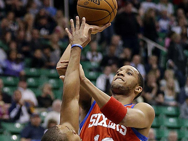Sixers guard Evan Turner  (Rick Bowmer/AP)