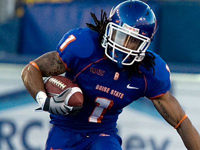 The Eagles reportedly sent a DB coach to check out Boise State cornerback Kyle Wilson. (AP photo / Matt Cilley)