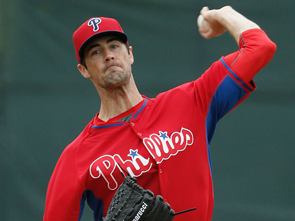Cole Hamels delivers in the first inning of a Triple-A minor league baseball game against the Pittsburgh Pirates in Clearwater, Fla., Thursday, March 27, 2014. (Kathy Willens/AP)