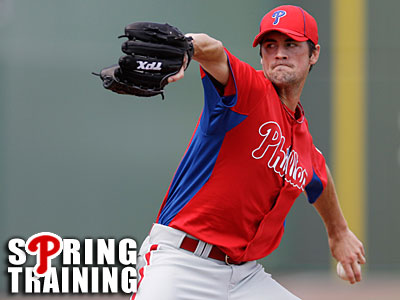 Lefty Cole Hamels will get the start for the Phillies against the Rays today. (Charles Krupa/AP)