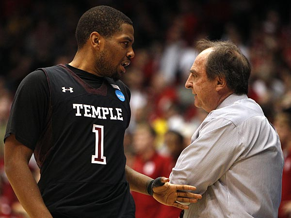 Temple guard Khalif Wyatt and head coach Frank Dunphy. (David Maialetti/Staff Photographer)