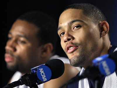 Villanova´s Scottie Reynolds, right, was named first team All-America by the Associated Press. (AP Photo/Elise Amendola)