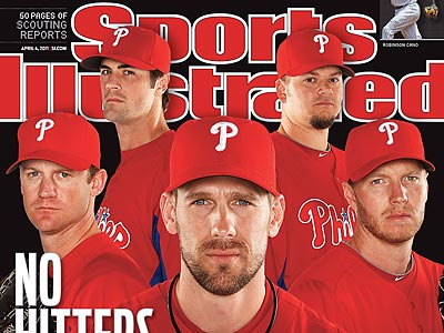 The Phillies rotation is featured on the cover of Sports Illustrated´s baseball preview issue.