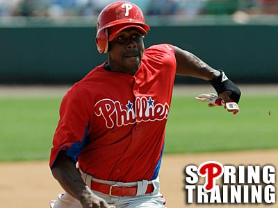 Juan Pierre landed a spot on the Phillies bench, beating out Scott Podsednik. (Kathy Willens/AP)