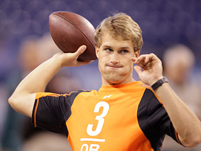 Michigan State QB Kirk Cousins is expected to be a second- or third-round pick. (AP Photo / Michael Conroy)