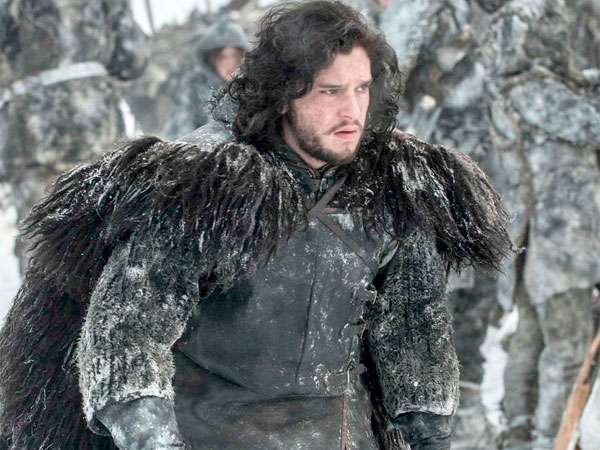 "Kit Harington as Jon Snow in ""Game of Thrones"" season opener."