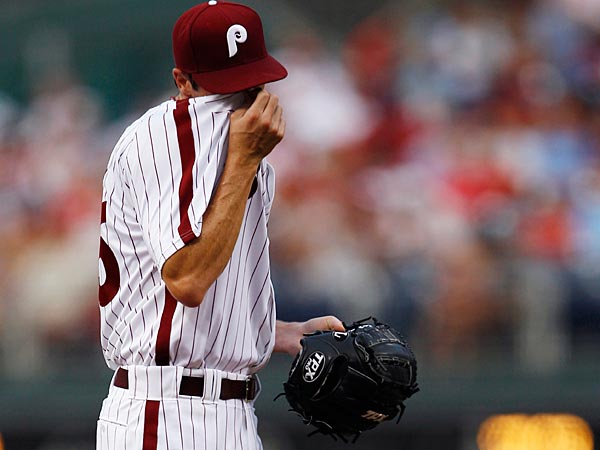 Philadelphia Phillies´ Cole Hamels pitches during a baseball game against the San Diego Padres, Friday, July 22, 2011, in Philadelphia. (AP Photo/Matt Slocum)