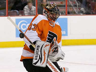 Flyers goalie Brian Boucher will be counted on heading into the playoffs. (Yong Kim / Staff Photographer)